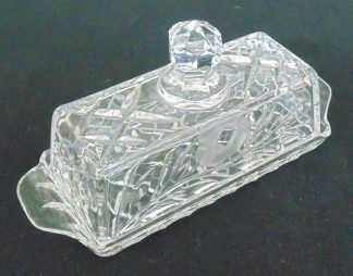 Crystal Butter Table Server, Lidded