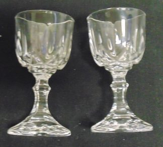 2 Crystal Liqueur Glasses