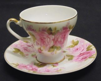 SAJI, Japan, China, Pink, Rose, Cup and Saucer