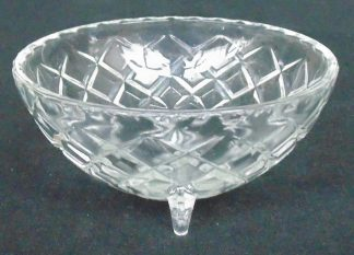 Glass Three Legged Bowl