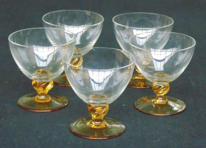 5 Parfait, Amber Glass Based Glasses