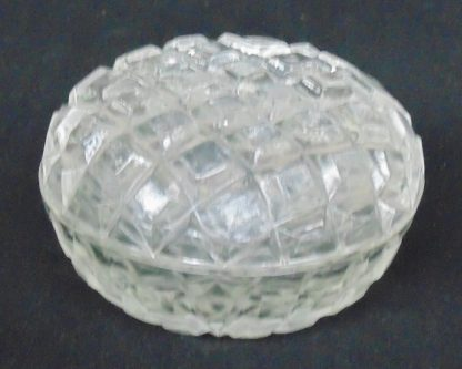Cast Glass, Lidded, Dressing Table, Bowl