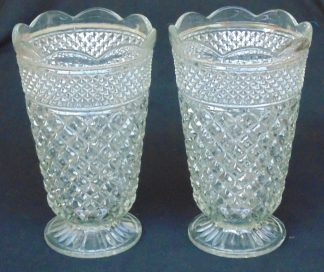 2 Large, Retro, Glass, Vases