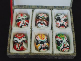 Boxed, Chines, Mask Miniatures - One mask Broken