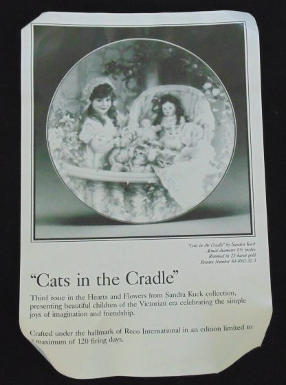 Cats in the Cradle, Reto, Wall Plate