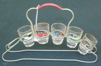 Vintage Car, Shot Glasses, in stand