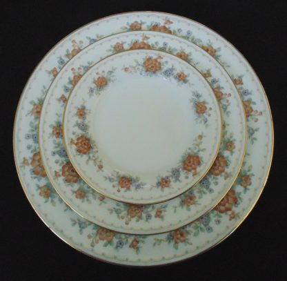 Noritaki, Tremont, 3018, Table, Setting for 6, one Chipped and Cracked Plate