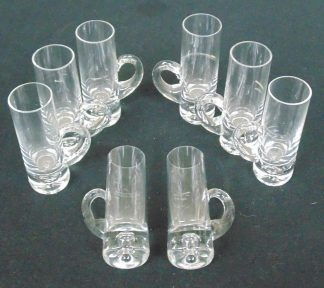Liqueur Glasses, Stylish with dimple in the base