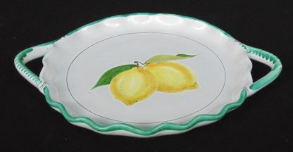 Mano Faleone Vietri, Lemon, Serving Plate