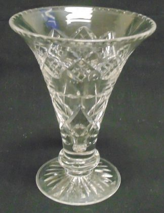 Horn Shaped Stuart Crystal Vase