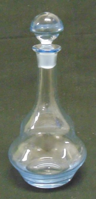 Blue Tinge, Glass Decanter