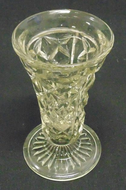 Cast Glass, Fluted Vase