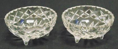 2 Three-legged, Glass, Bowls