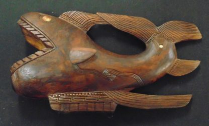 New Zealand, Tribal Art, Wood Fish