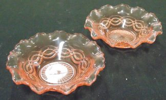 2 Pink Glass, Bowls
