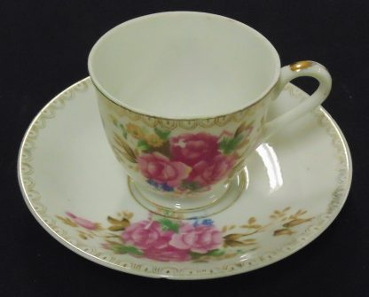 Japan, Cup and Saucer, Pink Flower