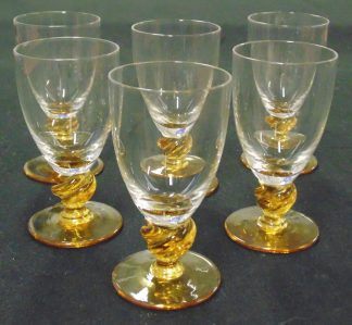 6 Amber Base Lequire Glasses