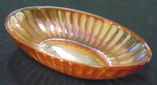 Carnival Glass Oval Bowl