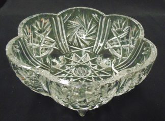 Three Lagged, Crystal Bowl