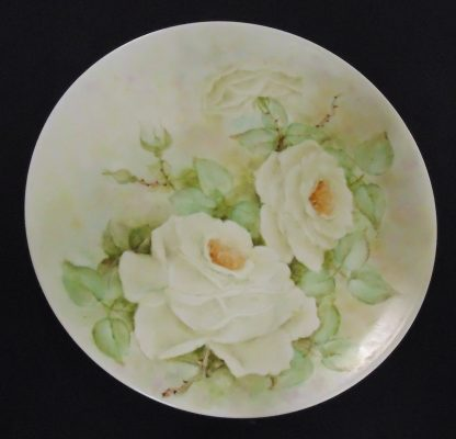 Hand Painted, Wall Plate, White Flowers
