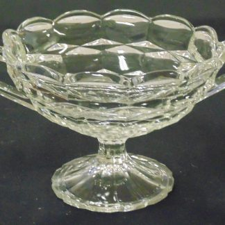 2 Handled, Glass, Punch Bowl