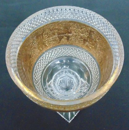 Grecian, Gold Gilt, Glass, Table Bowl