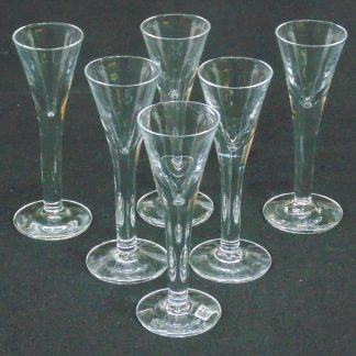 6 Shot Glasses, Boda, Sweden, Hand Made