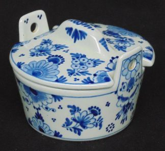 Delft, Blue and White, Lidded China Pot