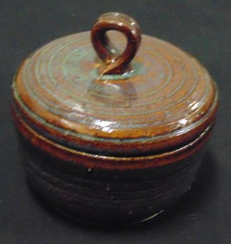 Stone ware lidded bowl