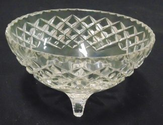 Three Legged Glass Bowl