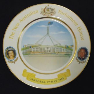 The New Austraian Parliament House, Commemorative Plate, 9th May 1988, Canberra