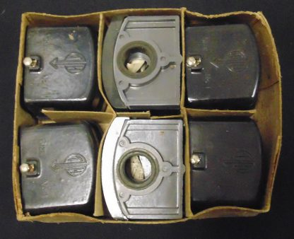 6 X TH Electrical Junction Boxes, Retro, In Original Box