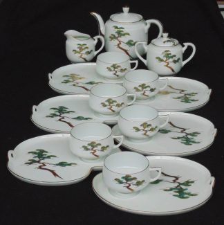Koshida, Japan, Hand Painted, 6 Tennis Tea sets