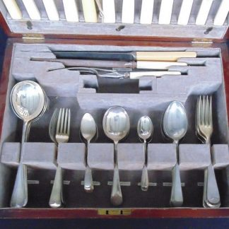 Wood Boxed, Cutlery Set with Boan Handled Knives, Sheffield England, Incomplete