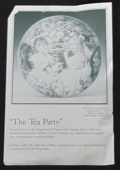 The Tea Party, Sandra Kuck Collection, Reco, Wall Plate