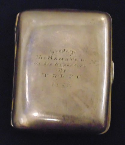 Sid Mansted On his Departure By TRLFC 1924, Cigarette Case