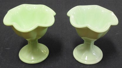 2 Retro Green Sweet Bowls or Vases