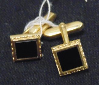 Pair of Cufflinks Black Stone