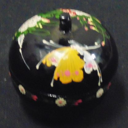 Black Painted Apple small Canister