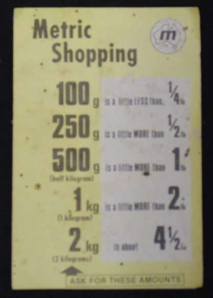 1966 - Metric Price Guide, Shopping Hints