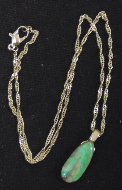 Chain and Green pendant
