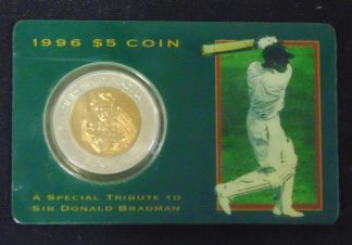 1996 $5 Coin Sir Donald Bradman Royal Australian Mint