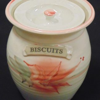 Lidded Biscuit Iron Stone Barrel