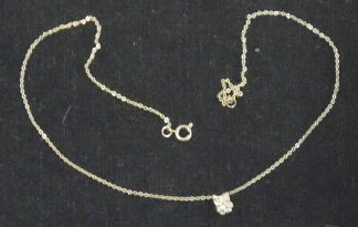 Necklace with owl chard
