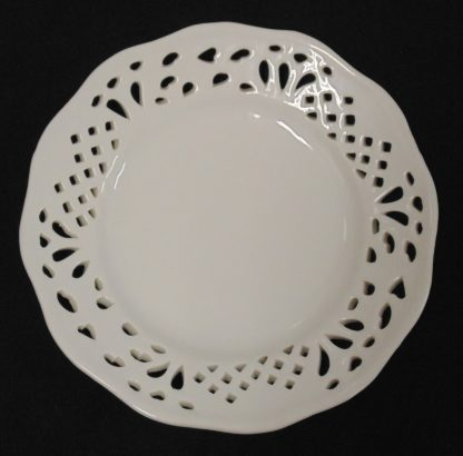 White Lace Rimmed Plate