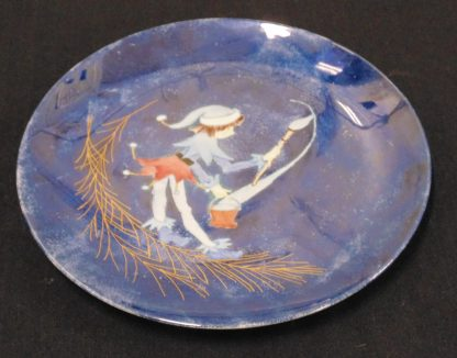Hand Painted Plate of an Elf By Louise Tanbert