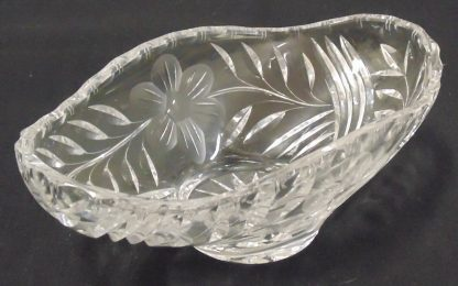 Crystal Bowl etched with flowers
