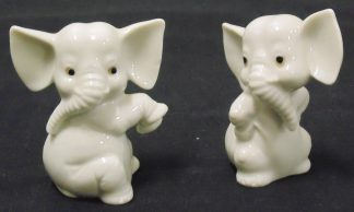 2 small Elephant Statues