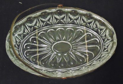 Vintage Australian Glass Bowl with Stand