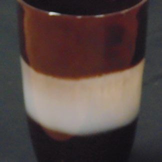 Large Brown and White Glass Vase